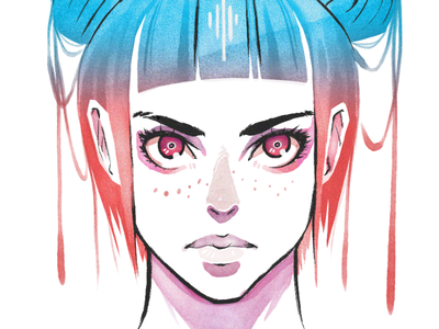 Watercolor Brush Test painting ink brush watercolor color illustration
