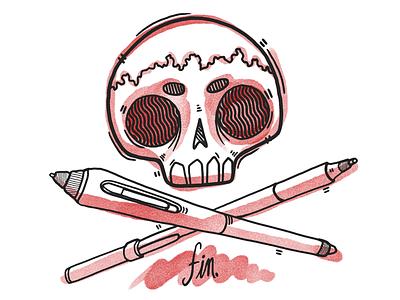 Behance Card  watercolor pen illustration