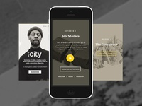 The City Podcast Mobile Site Mock Up