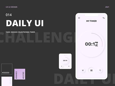 DAILY UI 014 | TIMER countdown timer timer design ui uxui dailyui