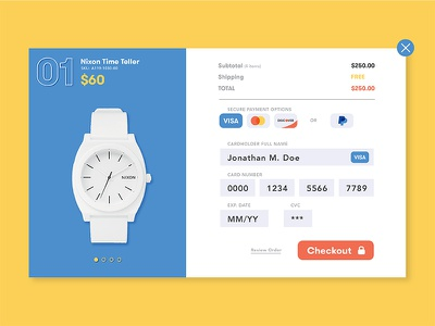Daily UI #002 – Credit Card Checkout checkout credit card ui 001 dailyui