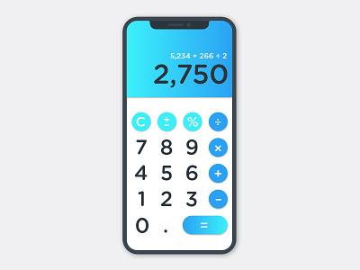 Daily UI #004 – Calculator uidesign calculator ui 001 dailyui