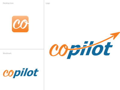 CoPilot Logo ui icon branding logo design