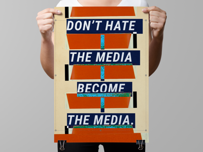 Don't hate the media, become the media - Jello Biafra glitch aesthetic glitch collage punk rock punk poster jello biafra