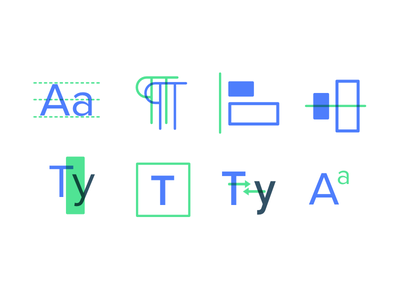 Typography Course Icon Explorations design tools design icons paragraph kerning icons designlab type typography