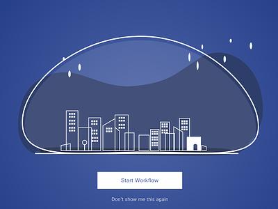 City under dome outline illustration networks networking workflow tutorials minimal nighttime cityline skyline city dome