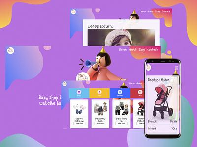 Baby shop web apps baby clothes babyshop branding vector design web website concept web design website design webdesign website