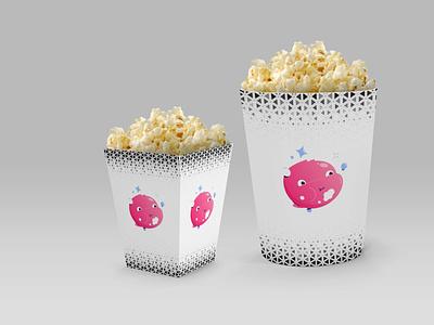 Movie Snack Packaging Mockup scaled vector logo design illustration branding