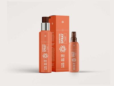 Sanitizer Spray Packaging Mock up 1500x1072 vector ui design illustration branding