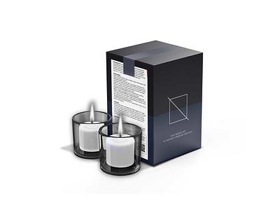 Branded Candle Box Packaging Mockup vector ui design illustration branding