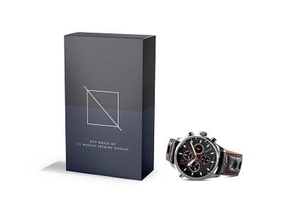 Premium Watch Box Packaging Mockup scaled vector ui design illustration branding