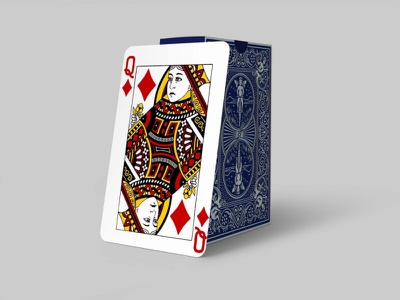 Queen Card Design Mockup new illustration app typography vector branding logo ui animation 3d motion graphics graphic design classic stylish latest mockup design card queen free