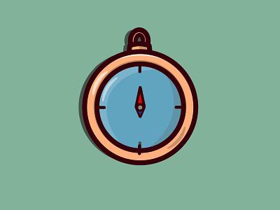Compass icon design logo icon flat design vector minimal illustration flat design