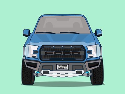 Ford f150 Truck illustration illustration art ford truck vector illustration flat flat design design