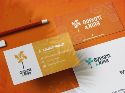 Quixote & Kids - Brand Identity Inspired by Latin-America corporate design corporate identity visual identity collateral children logo brand identity stationery kids children donquixote latin america latin latino business cards business card design business card branding design brand design branding brand