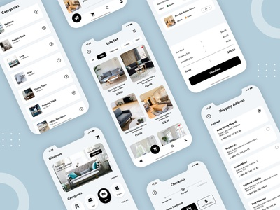 Furniture Shop Mobile Application ios app design ios app android app design android app furniture design furniture store mobile app design mobile app ux design ui design adobe xd