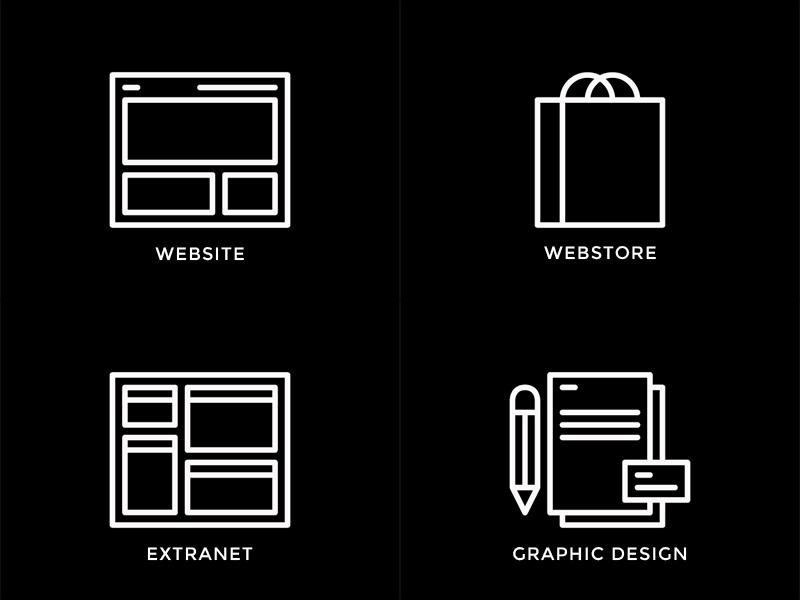 Symmetri icon set icon set website webstore shopping bag extranet graphic design illustrator vector minimal e-commerce online store