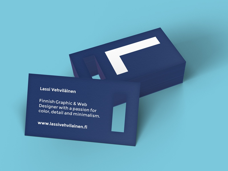 Personal Business Card personal business card die cut color detail minimal