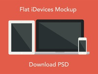 Flat iDevices Mockup PSD