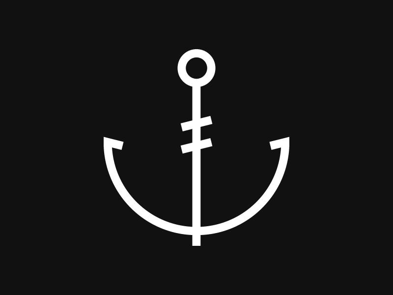 Anchor T-shirt design anchor icon navy t-shirt sea minimal monochrome nautical ocean