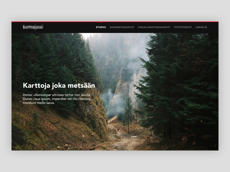 Map Drawer Landing Page map landing page minimal website clean simple web design photography forest homepage ui image