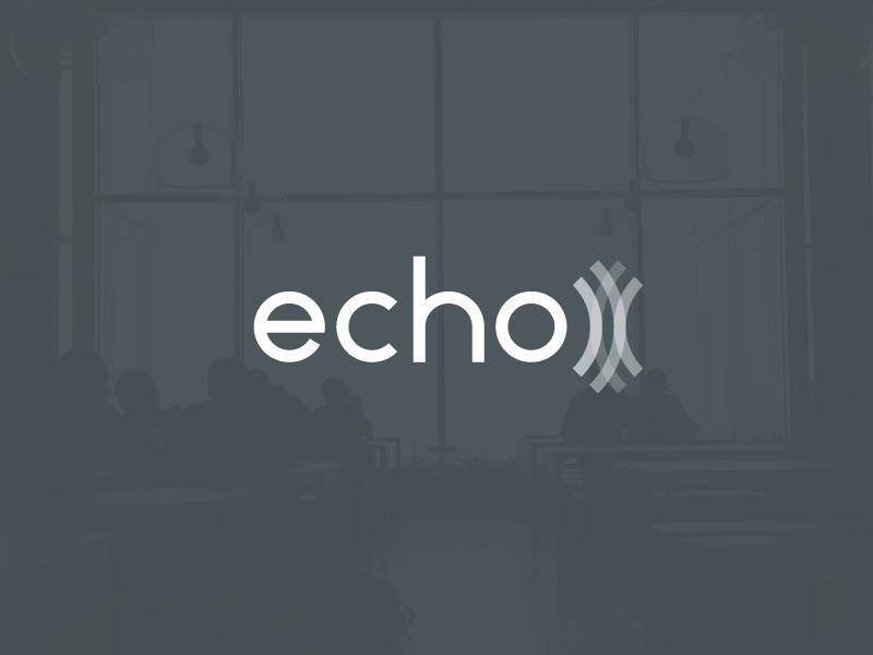 Echo Logo Concept #2 concept transparency echo logo logotype branding identity