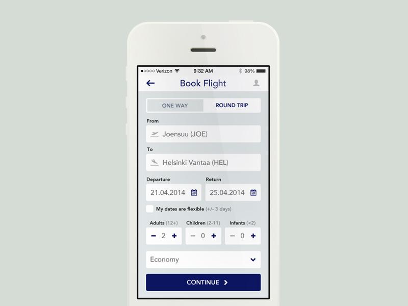 Book Flight user experience booking flight minimal web design airliner app mobile app ui user interface ux flat