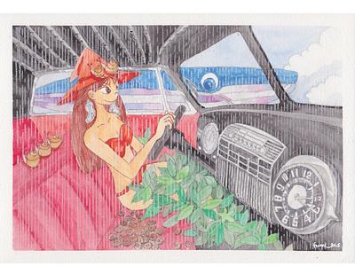 Rainy Taxi  inside Ⅱ [Meme in Dali's world]