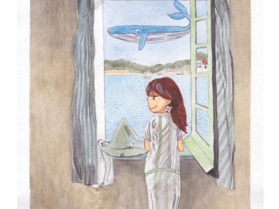 Girl At A Window [Meme in Dali's world]