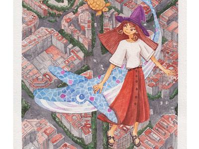 Bye bye Sagrada Familia_Set them free illustration