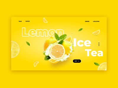 Lemon Ice Tea webdesign fruits photoshop ui grapicdesign figma design