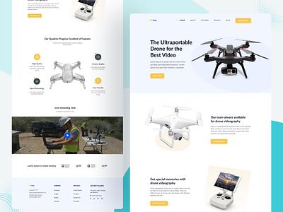 Drone Buying Landing Page Design. drone landing page creative design web design website ui ux drone dji design layout motion animation principle photography product product website landing page