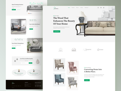 E-Commerce furniture landing page! user experience user interface minimalism catalog page interaction design online shopping ecommerce furniture web site website web design web furniture decor room home ux ui interface interior design graphic design design