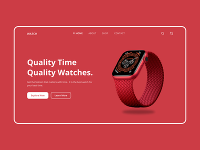 Smart Watch Web Design-Header Exploration interface ui design web design minimal header exploration smart watch watch product header