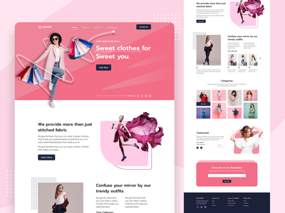 Fashion E-commerce Landing Page interface website design store template web design website ecommerce e-commerce landing page header typography fashion merketing style women fashion shopping cloth wear