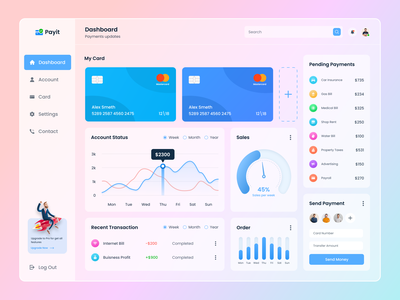 Finance Dashboard Design design ux uiux interface finance financial dashboard app admin