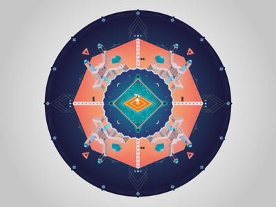 Mandala - Monument Valley Game geometry fantastic gameplay colors graphic design flat android ios app game monument valley mandala
