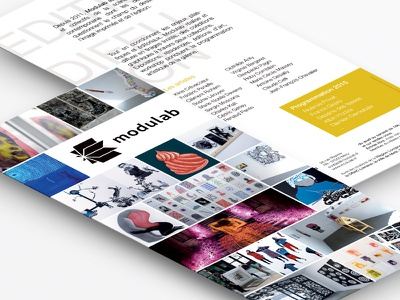 Flyer Modulab - 2015 modulab gallery art fair flyer photography leaflet metz contemporary art art promotion print art edition