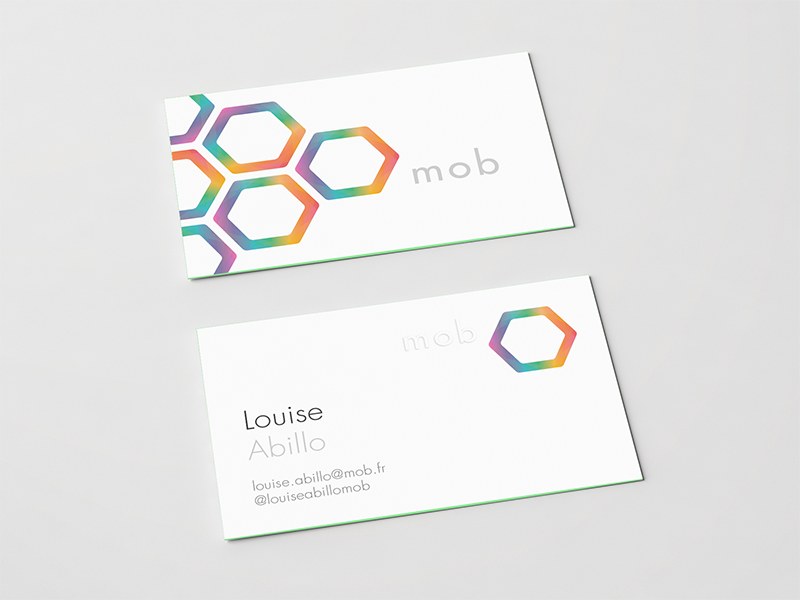 Business card & logotype branding brand print corporate mockup hexagon geometric graphic logotype logo color business cards