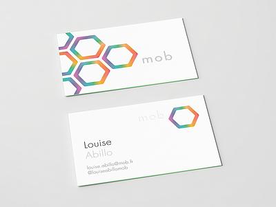 Business card & logotype branding brand print corporate mockup hexagon geometric graphic logotype logo color business cards