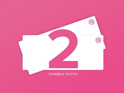 2 Dribbble Invites first pink freebie giveaway debut design prospect dribbble invites invitations invite invites