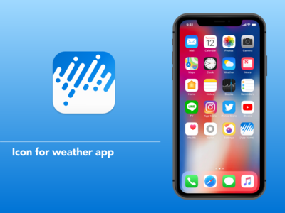 Weather forcast app icon
