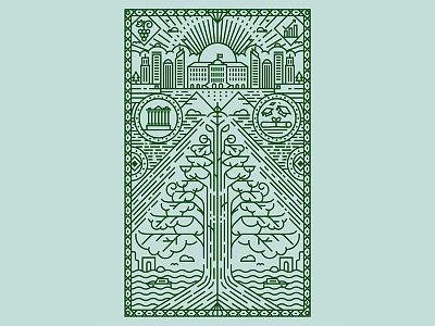 Lebanon Cover Illustration background linear stroke line beirut tree cedar lebanon illustration pattern icon vector
