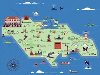 Jamaica Map for The Business Year Magazine