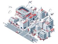 Venuex City Illustration