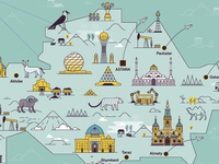 Kazakhstan Map Illustration