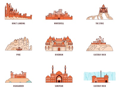Castles of Game of Thrones