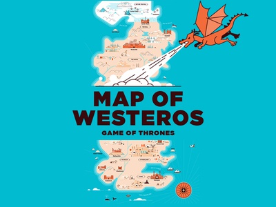 Game of Thrones Map Illustration
