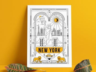 New York Poster Illustration
