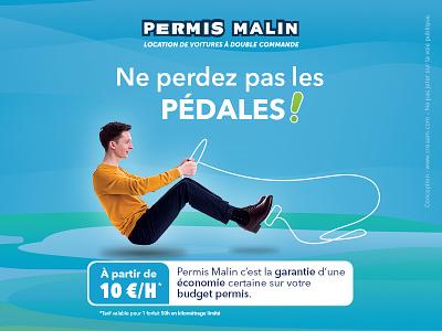 Permis Malin automotive drawing illustration poster flyer print